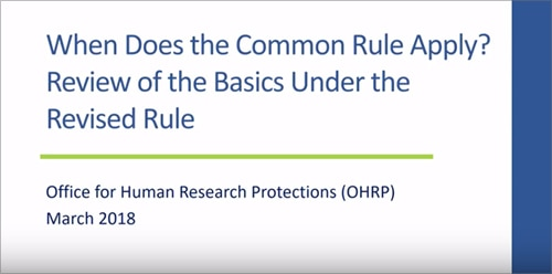 revised common rule video 1