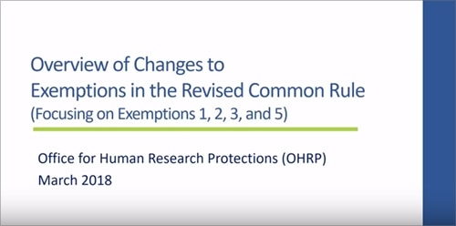 revised common rule video 2