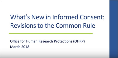 Revised common rule video