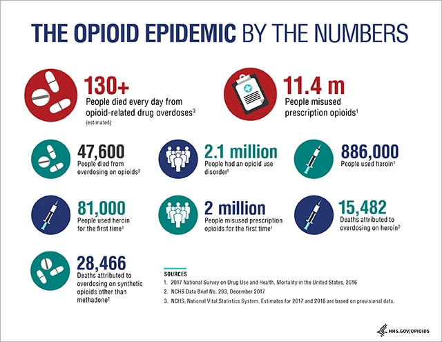 Opioids Information Graphic, link to accessible version follows
