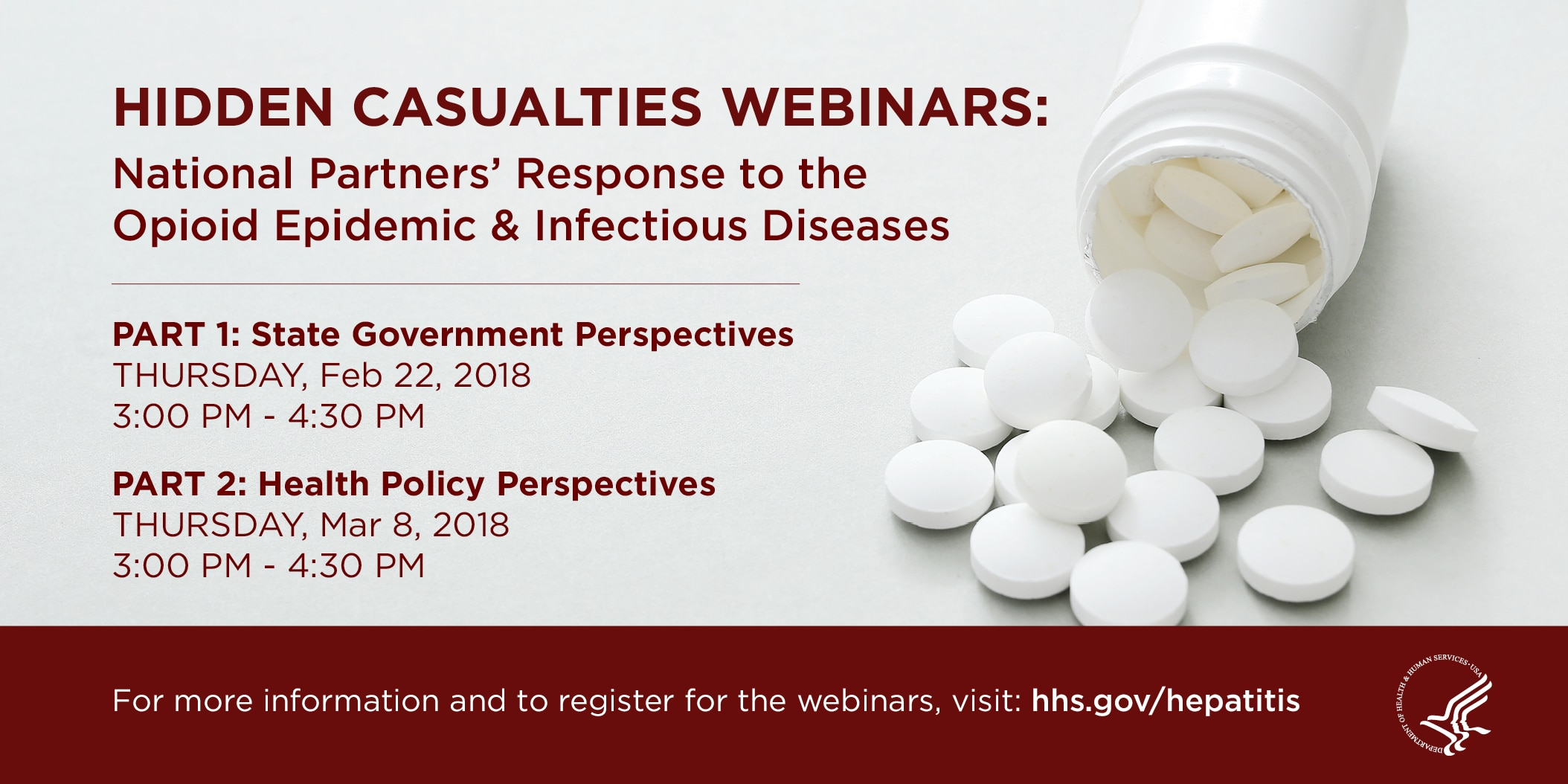 Hidden Casualties Webinars: National Partners Response to the Opioid Epidemic & Infectious Diseases