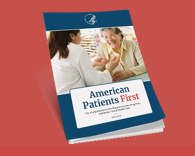 Cover of American Patients First: a doctor and her elderly patient