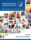 Cover page for Department of Health and Human Service Agency Financial Report for Fiscal Year 2016.