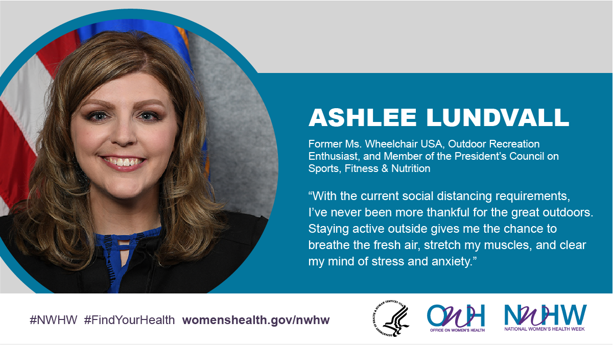 Ashlee Lundvall, Former Ms. Wheelchair USA, Outdoor Recreation Enthusiast, and Member of the President's Council on Sports, Fitness & Nutrition.