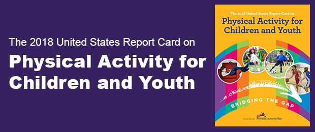 Graphic for the 2018 United States Report Card on Physical Activity for Children and Youth