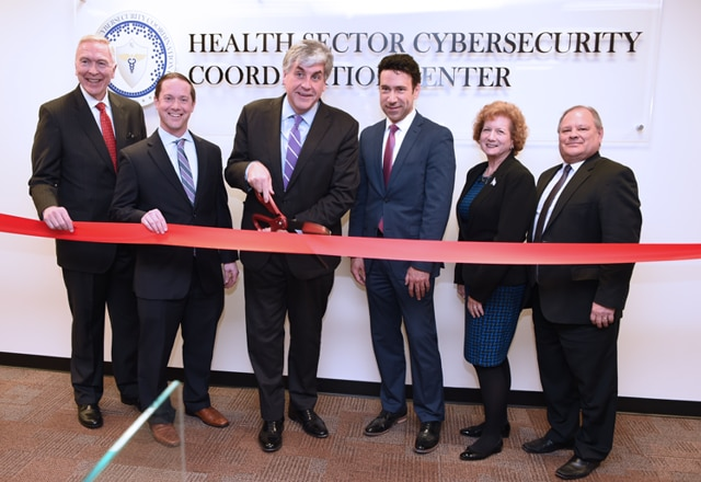 Deputy Secretary Eric Hargan and HHS leaders at the ribbon-cutting ceremony of the Health Sector Cybersecurity Coordination Center.