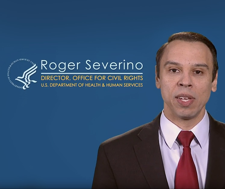 Roger Severino Director, Office For Civil Rights U.S. Department of Health and Human Services