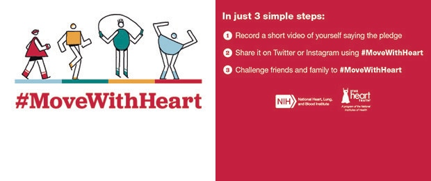 #MoveWithHeart American Heart Month Web Banner