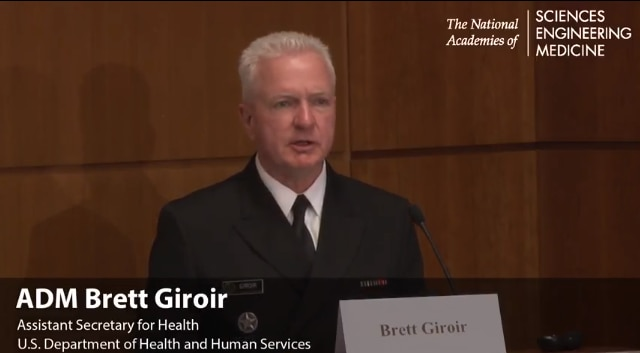 Adm. Brett P. Giroir, M.D., assistant secretary for health