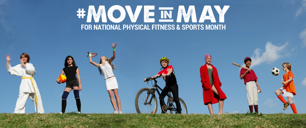 National Physical Fitness and Sports Month - Get moving!