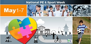 National PE & Sport Week graphic with text description below