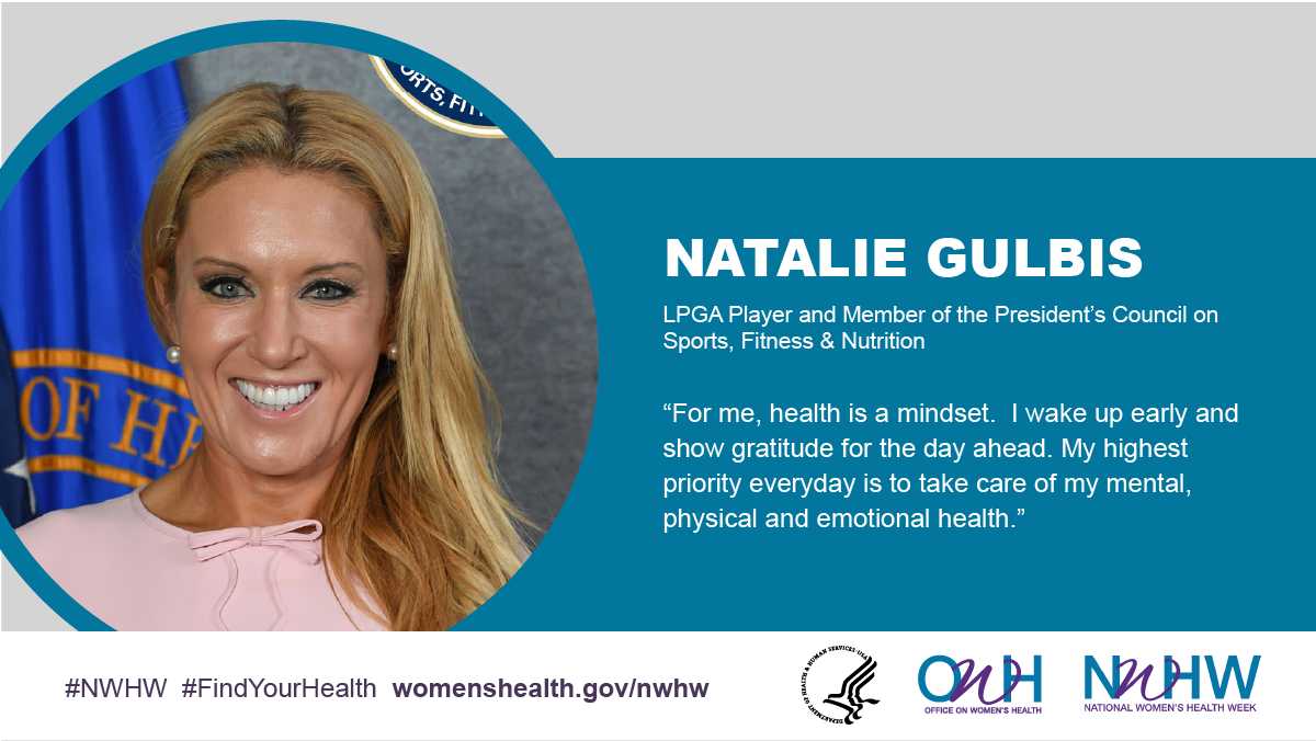 Natalie Gulbis, LPGA Player and Member of the President's Council on Sports, Fitness & Nutrition.