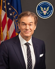 Official headshot of PCSFN Council Member Dr. Mehmet Oz