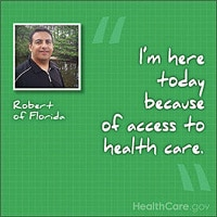 I'm here today because of access to health care. Robert of Florida.