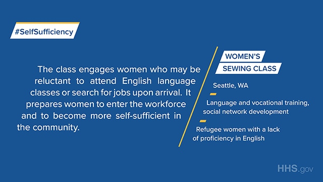 Women's Sewing Class in Seattle, WA, provides language and vocational training as well as social network development