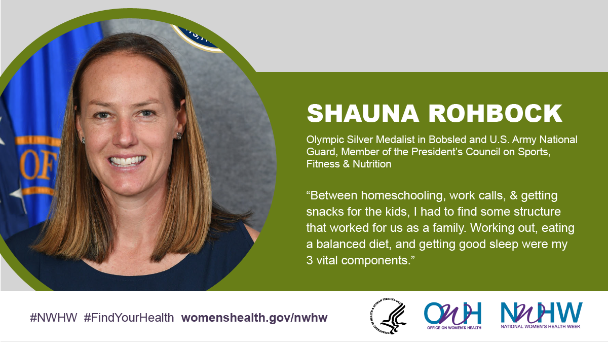 Shauna Rohbock, Olympic Silver Medalist in Bobsled and U.S. Army National Guard, Member of the President's Council on Sports, Fitness & Nutrition.
