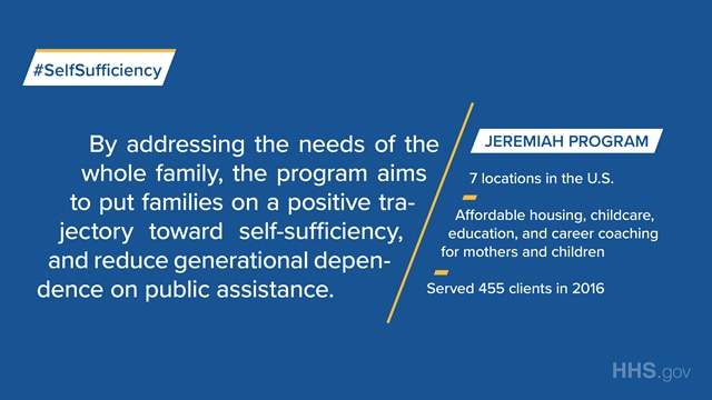 The Jeremiah Program offers affordable housing, childcare, education and career coaching for mothers and children.
