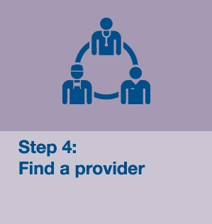 Step 4: Find a provider