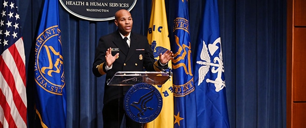 VADM Jerome Adams, M.D., the 20th U.S. Surgeon General, delivers remarks