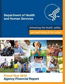 Cover page for Department of Health and Human Service Agency Financial Report for Fiscal Year 2015.