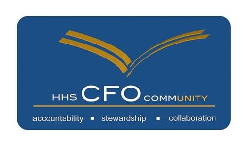 Chief Financial Officer Community logo: accountability, stewardship, collaboration
