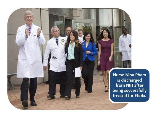Nurse Nina Pham is discharged from NIH after being successfully treated for Ebola.