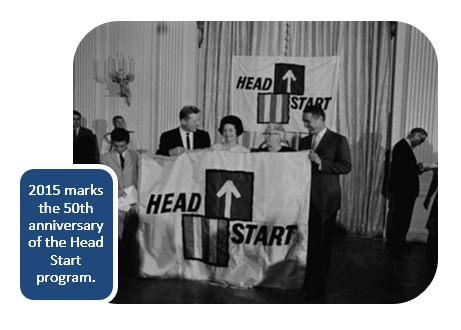 2015 marks the 50th anniversary of the Head Start program.