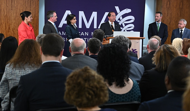 Secretary Azar gives remarks to the American Medical Association