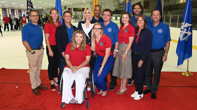 Members of the President's Council on Sports, Fitness, and Nutrition join Ivanka Trump, Advisor to the President, and HHS Secretary Alex Azar at an event launching the first National Youth Sports Strategy