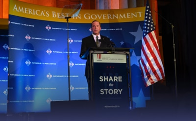 Secretary Azar speaking at Partnership for Public Service's Sammies