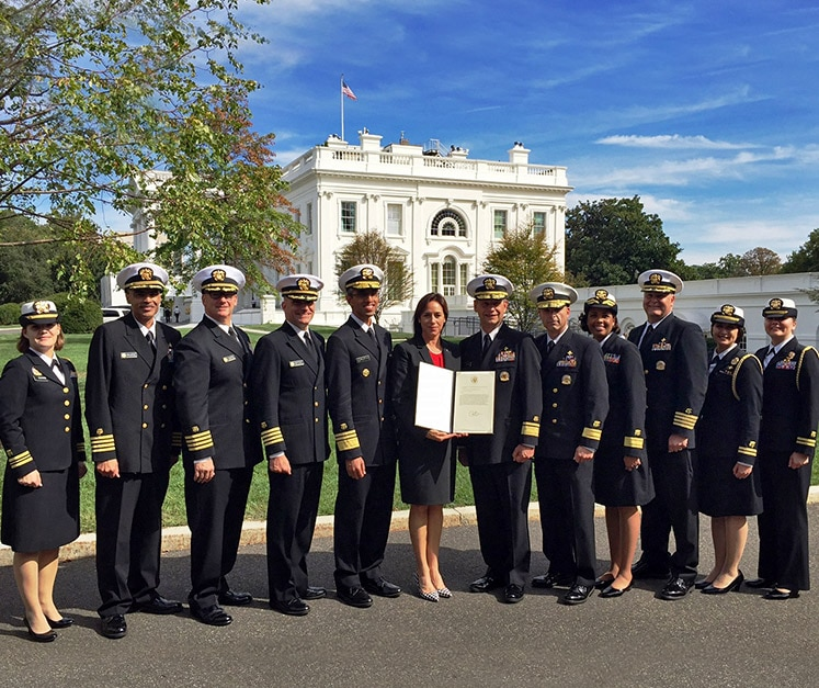Image for President Presents Presidential Unit Citation to the Commissioned Corps