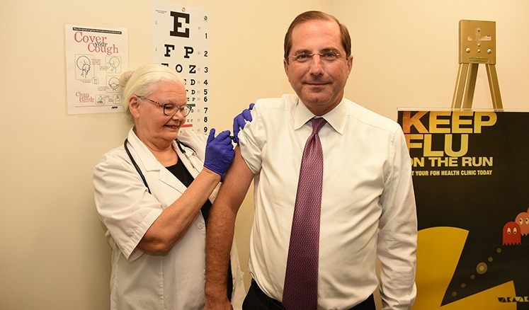 HHS Secretary Alex Azar got his flu vaccine