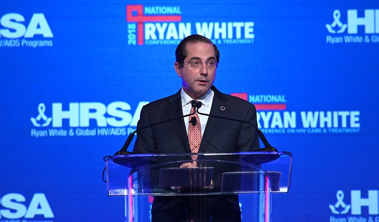 Secretary Azar spoke at the National Ryan White Conference on HIV Care & Treatment