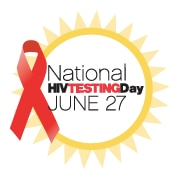 National HIV testing day badge