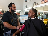 Read a blog about Barbershops Help Black Men Lower Their Blood Pressure.