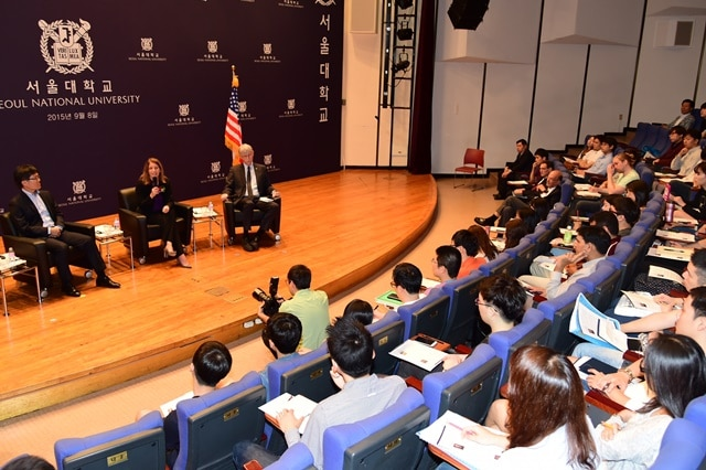 On Tuesday, Dr. Collins and I had the opportunity to speak with students at Seoul National University