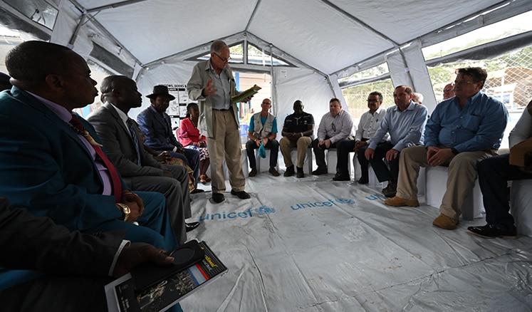 Secretary Azar visited an Ebola treatment center in Butembo, DRC