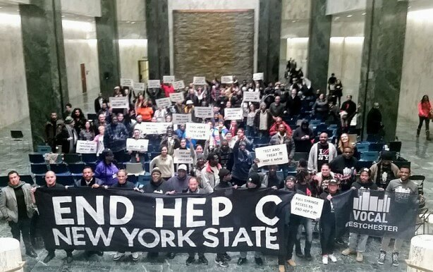 Vocal-NY Hepatitis C Legislative Awareness Day attendees