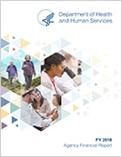 Cover page for Department of Health and Human Service Agency Financial Report for Fiscal Year 2018.
