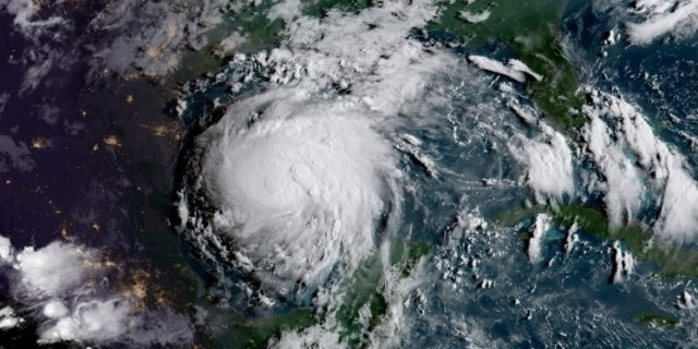 Geocolor image of Tropical Storm Harvey