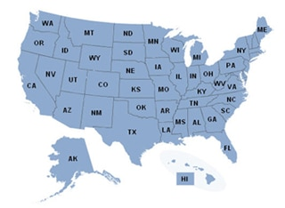 Use the map to find benefits in your state