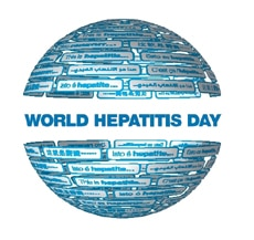 World Hepatitis Day logo.