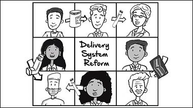 Watch a whiteboard video about Delivery System Reform.