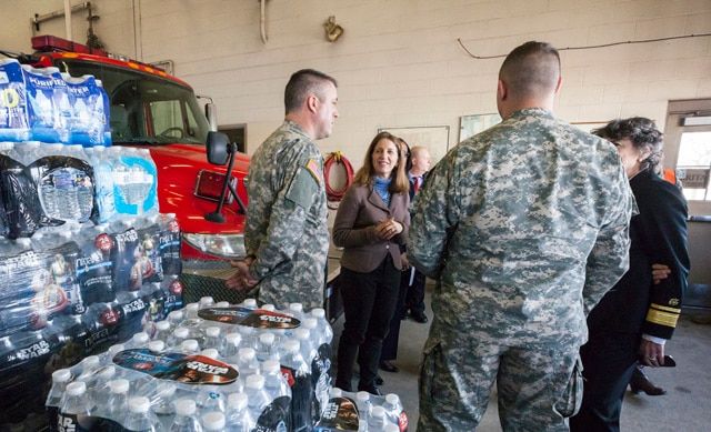 HHS Secretary Sylvia Burwell and Dr. Nicole Lurie, HHS Assistant Secretary for Preparedness and Response, visit Flint, Michigan.