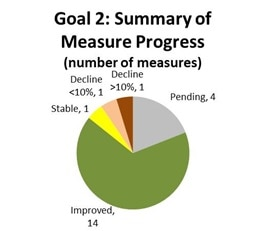 Goal 2: Summary of measure performance