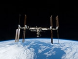 2009 photo of International Space Station is seen from Space Shuttle Discovery