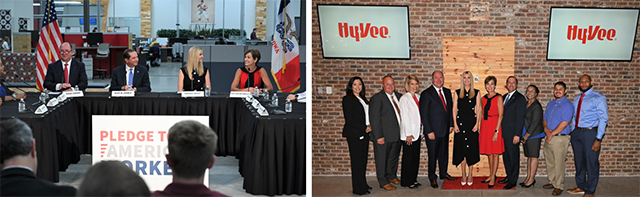 HHS Secretary Alex Azar participated in an employee roundtable at the Hy-Vee Helpful Smiles Technology (HST) Innovation Center in Grimes, Iowa, with Advisor to the President Ivanka Trump and Iowa Governor Kim Reynolds