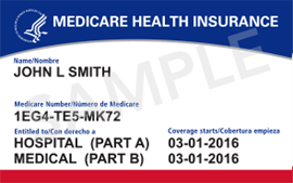 Medicaid Health Insurance card.