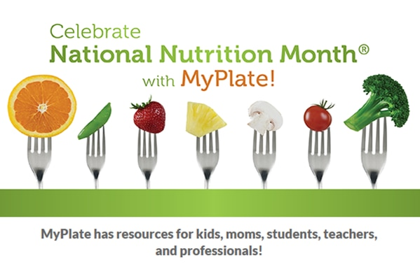 Bite into a healthy lifestyle everywhere you go! Celebrate National Nutrition Month with My Plate!