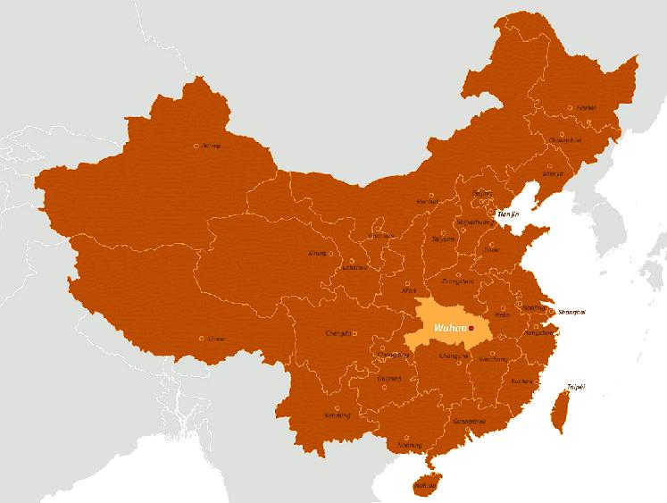 Outbreak Coronavirus China 2019 Map